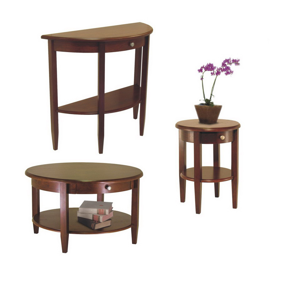 winsome wood concord antique walnut composite accent table set home goods website red wingback chair pottery barn rattan coffee round concrete atlantic furniture solid farm wooden