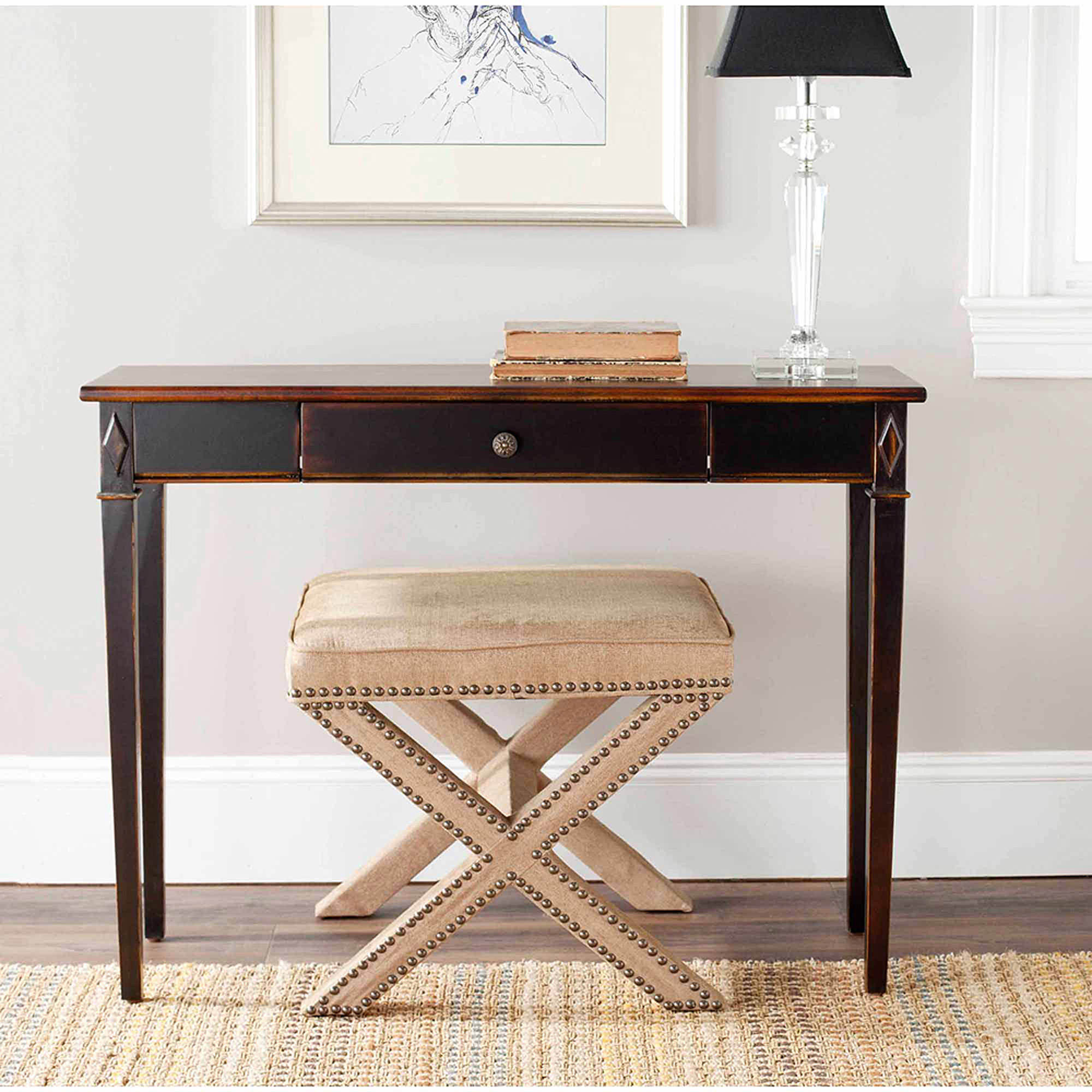 winsome wood concord half moon console table drawer walnut accent home goods floor lamps chairs with small wheels gallerie porch furniture clearance extra narrow folding coffee