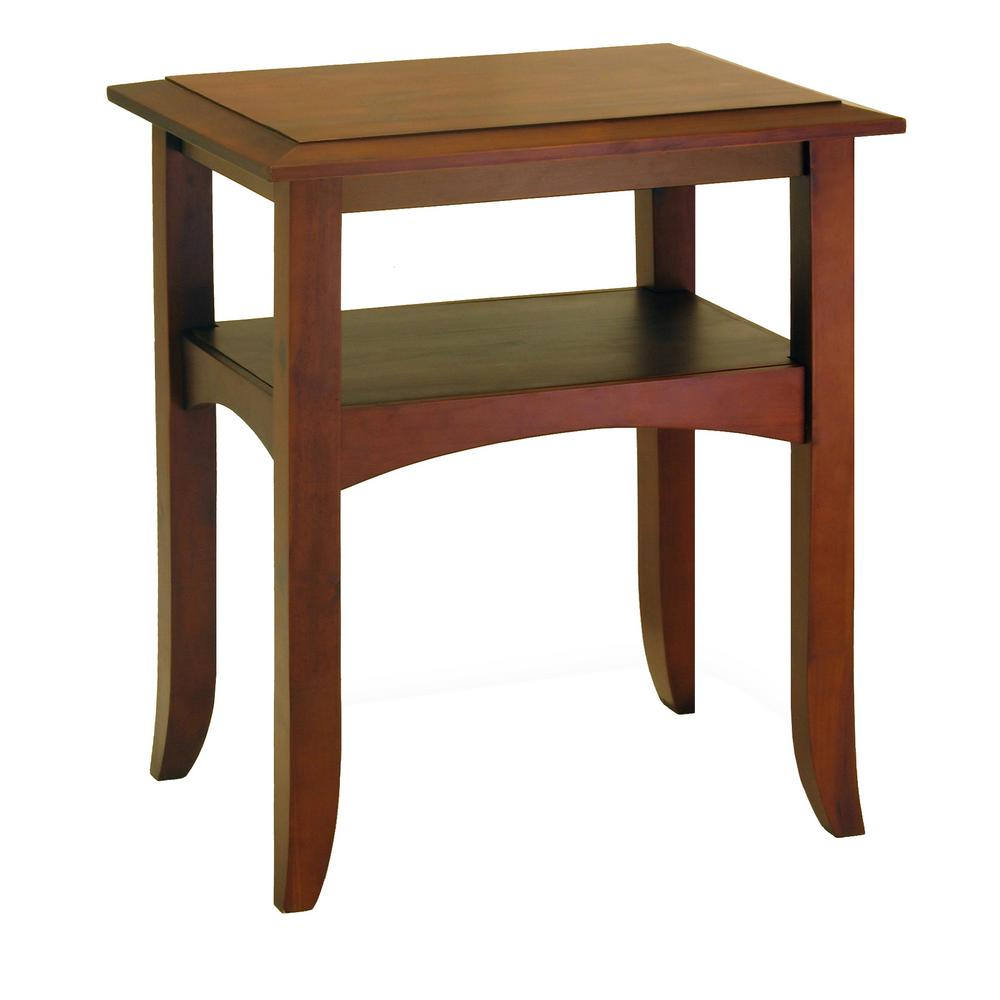 winsome wood craftsman walnut end table the tables accent lime green coffee atlantic furniture pottery barn rattan metal lamps contemporary bar height for small space round glass