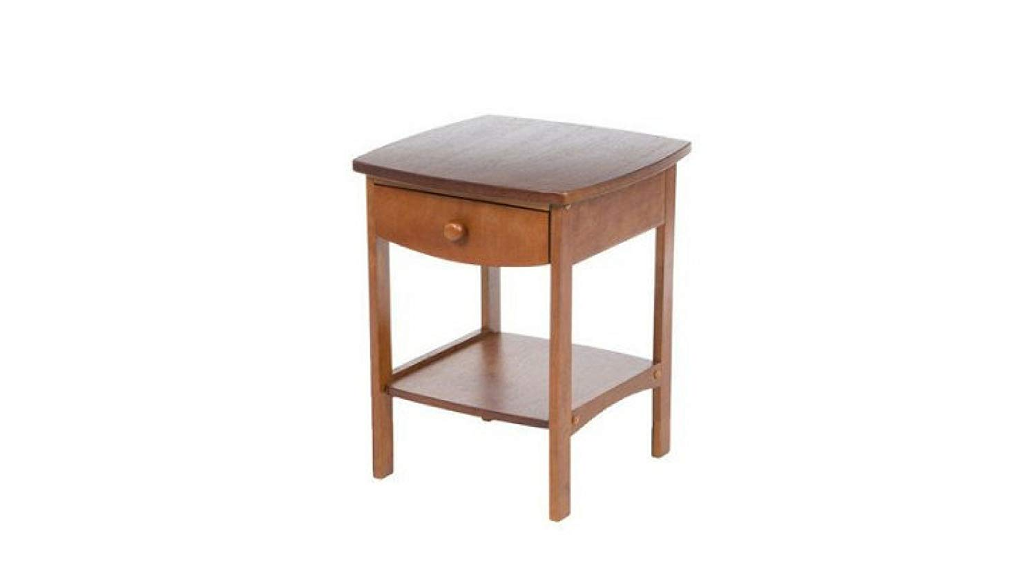 winsome wood curved nightstand end table features eugene accent white pull out drawer natural kitchen dining living room tables console decor purple tiffany lamp small narrow side