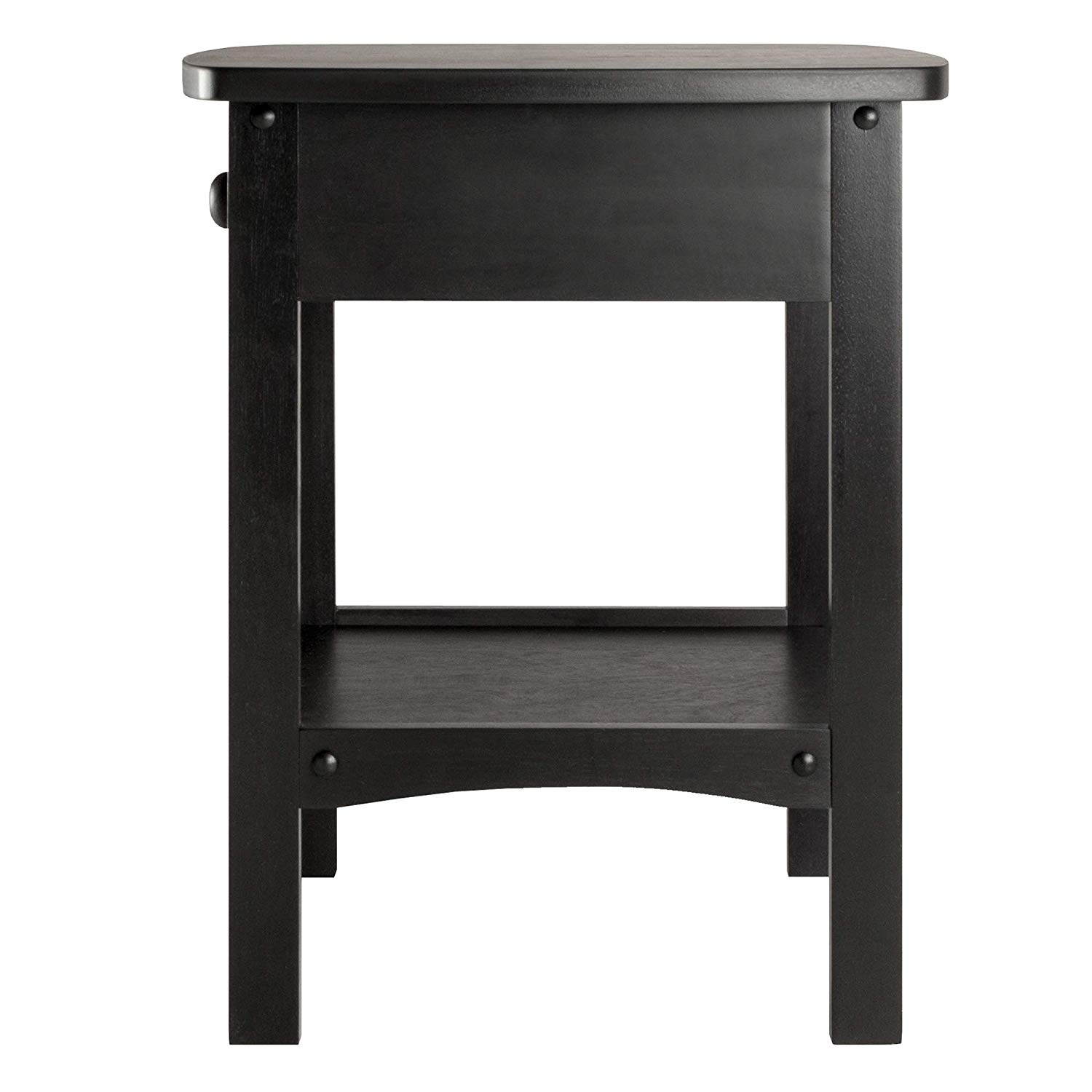winsome wood end table night stand with drawer and shelf black squamish accent espresso finish home kitchen green console battery powered floor lights urn lamp nesting cocktail