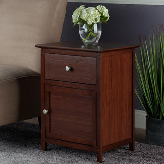 winsome wood eugene accent table walnut prod bedside drawers small dining set tudor furniture gallerie bedroom college essentials american made tall tables with glass light shades