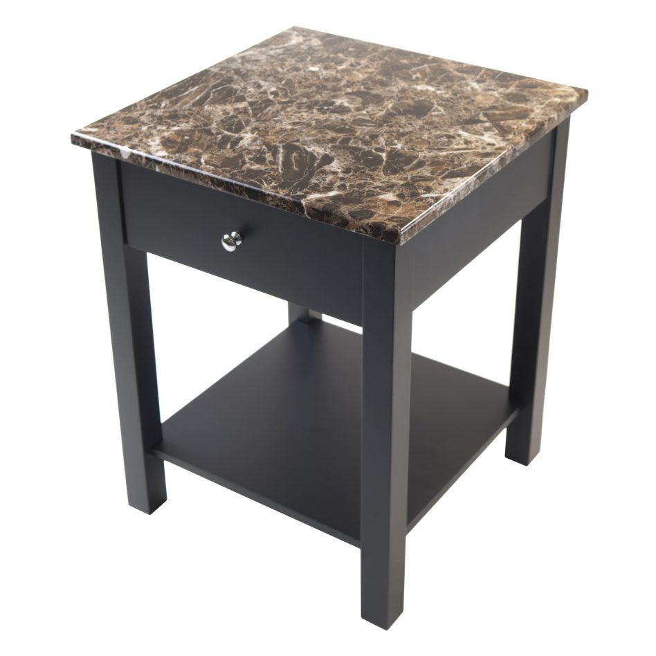 winsome wood genoa accent end table mirrored furniture jaca marble top ethan allen black timmy brass glass cool ideas decorative accessories for dining room metal and round