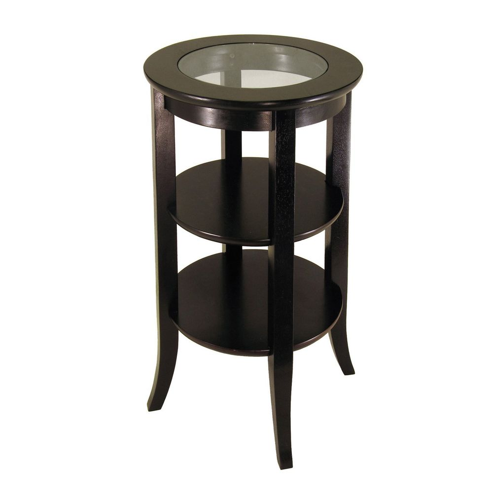 winsome wood genoa accent end table mirrored round tables pub height dining urban loft furniture nesting coffee decorative storage cabinets for living room cabbage rose tiffany