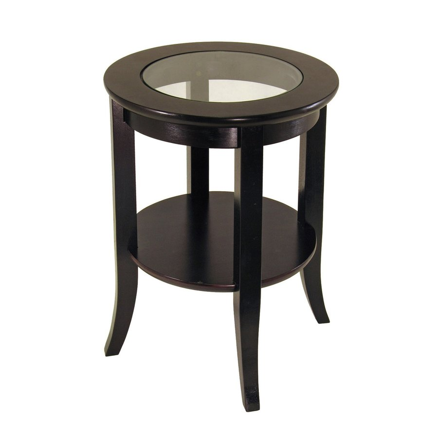winsome wood genoa dark espresso casual end table accent round patio cover black and white bedside lamps coffee with glass person bar small tall hairpin dining cool outdoor