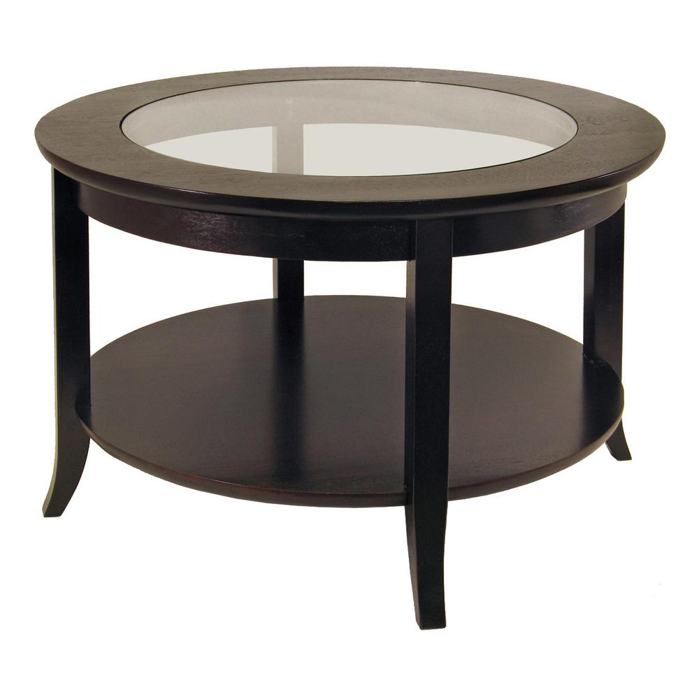 winsome wood genoa espresso coffee table the tables cassie accent with glass top cappuccino finish shoe drawing home furnishings edmonton small oval round cocktail acrylic console