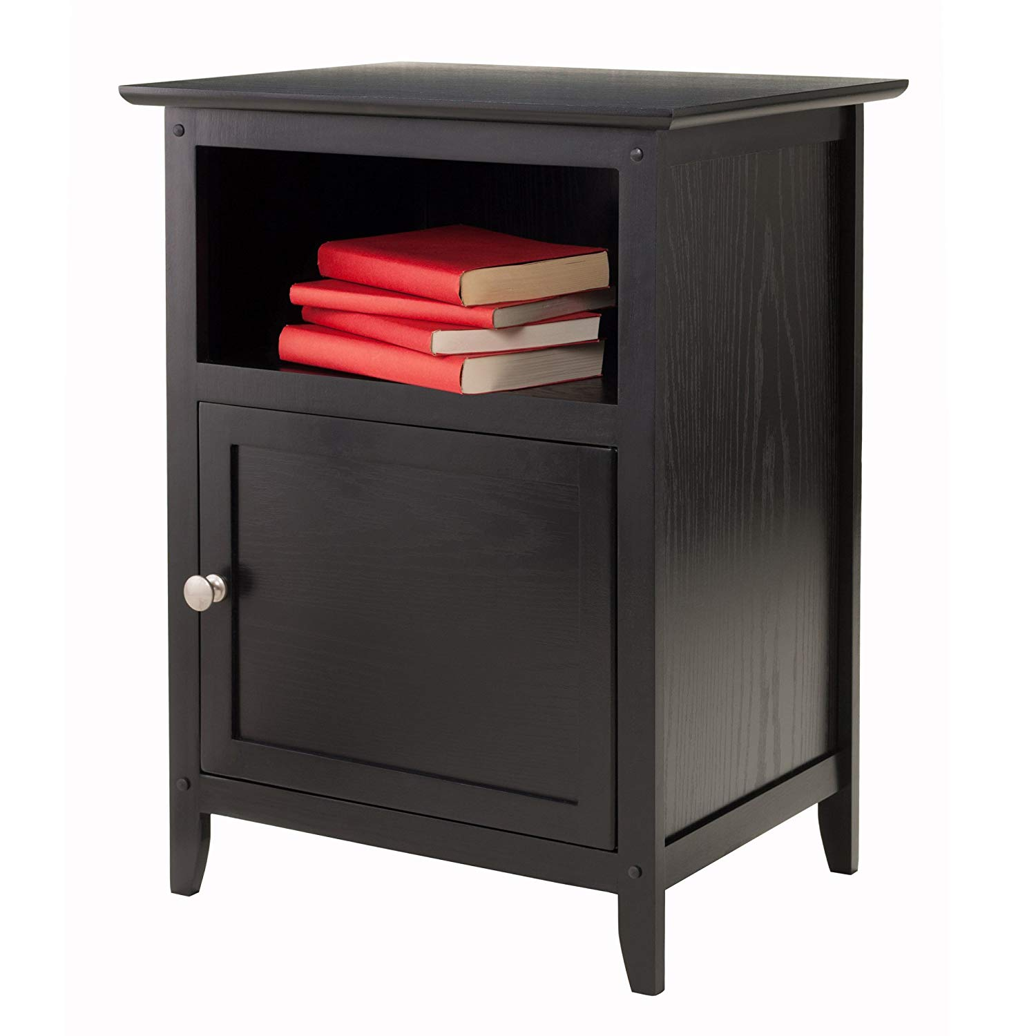 winsome wood henry accent table black kitchen agl with power dining grey metal coffee glass nesting tables outdoor side bunnings piece setting inexpensive lamps ikea kids storage