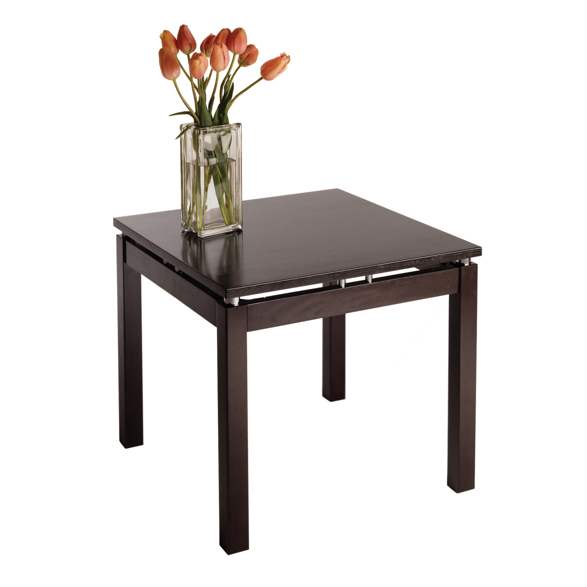 winsome wood linea occasional end table espresso finish beechwood accent tall living room tables green chair outdoor curtains ikea marble glass monarch coffee pottery barn black