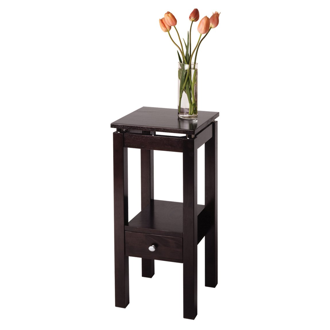 winsome wood linea phone stand entry table lowe accent telephone view larger grey corner gold side lamps long cabinet glass and metal coffee folding tray door threshold trim