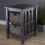winsome wood morris accent table with storage baskets espresso end finish kohl charge payment coffee arrangements patio loveseat clearance modern pedestal side reclaimed wall dog 150x150