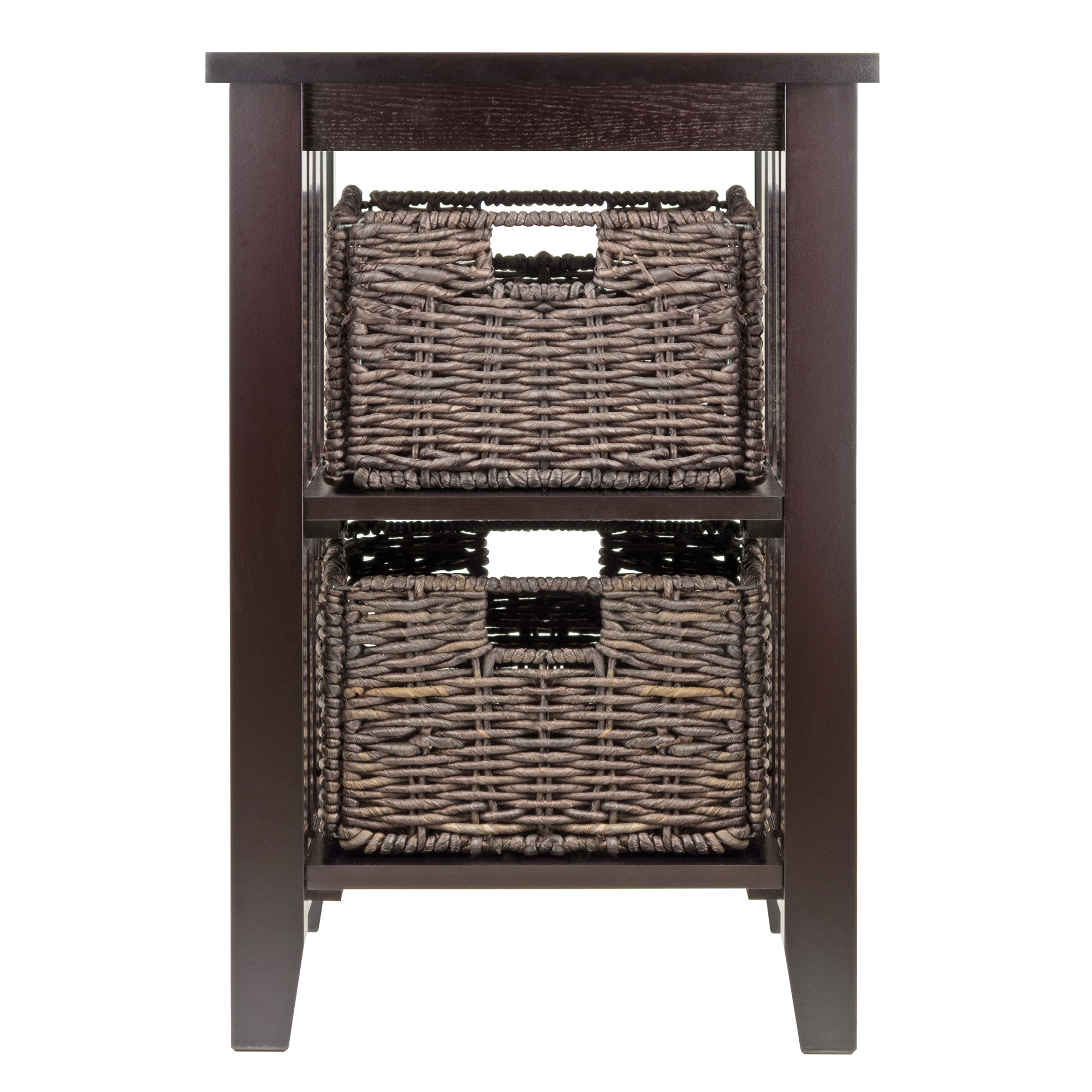 winsome wood morris accent table with storage baskets espresso finish outdoor coffee cover small round occasional black sideboard unfinished dining legs wicker porch furniture oak