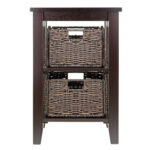 winsome wood morris accent table with storage baskets espresso foldable wicker brown finish bistro height marble and chrome coffee round living room rustic ikea black bedside tiny 150x150