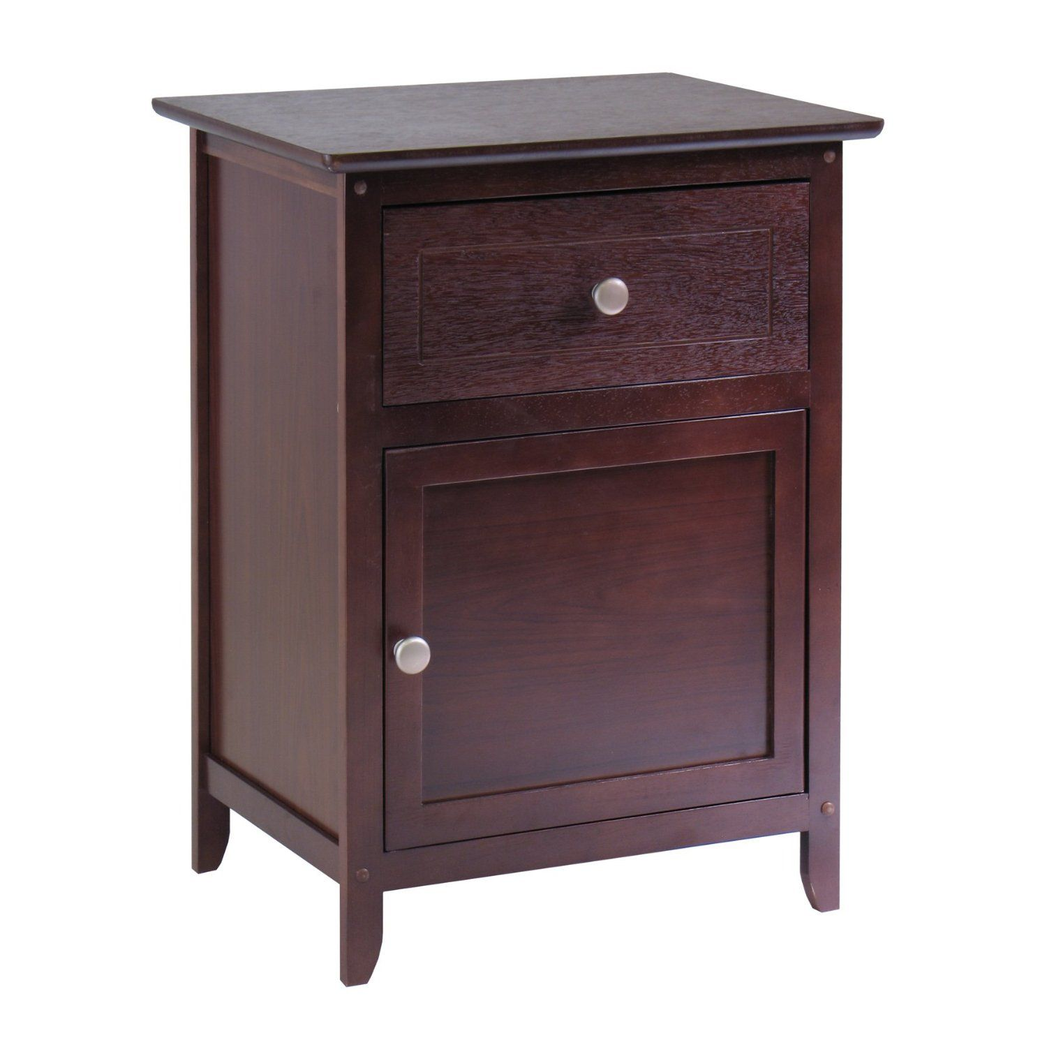 winsome wood night stand accent table with drawer and beechwood end espresso cabinet for storage antique walnut home kitchen tall living room tables modern coffee ashley office
