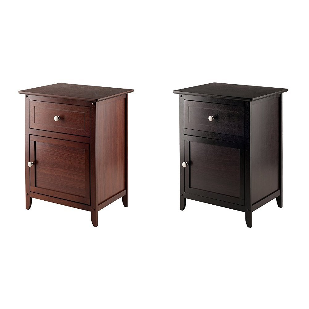 winsome wood night stand accent table with drawer and eugene walnut cabinet for storage antique beechwood end black metal coffee clear acrylic mercury lamp ikea stump sage paint