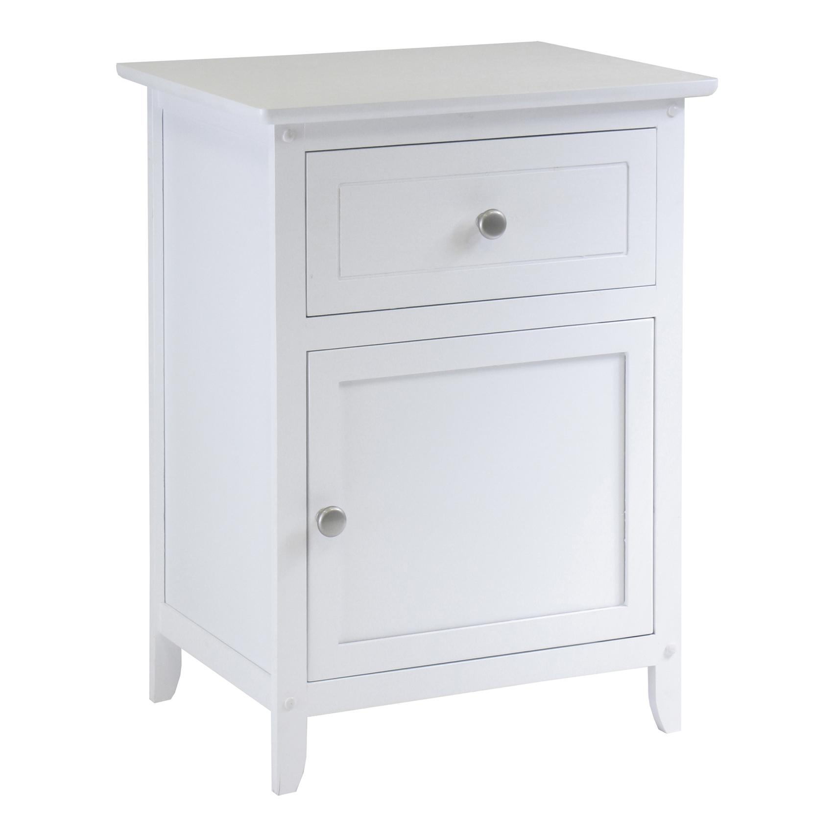 winsome wood night stand accent table with outdoor tables white basket drawers market umbrella large silver wall clock dining room top decor ikea mounted shelves lawn and patio