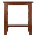 winsome wood ollie accent end table walnut finish home office furniture shelf dark oak side fine linens scandinavian american made black coffee with glass mirage mirrored vanity 150x150