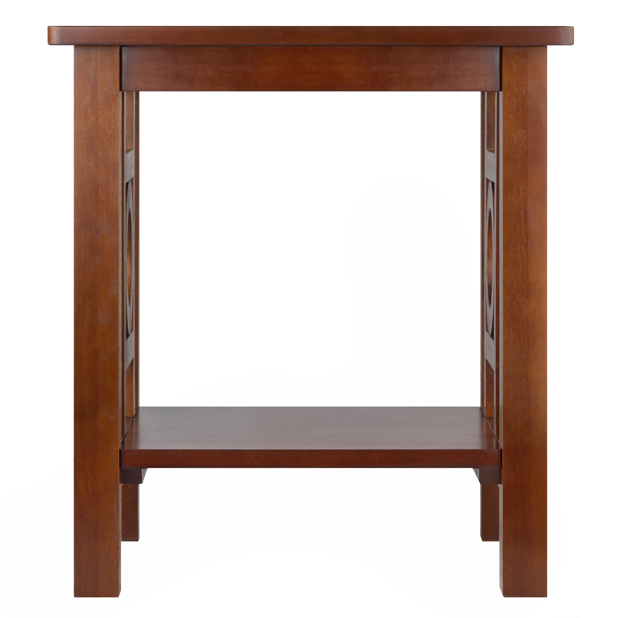 winsome wood ollie accent end table walnut finish home office furniture shelf nautical ikea patio nate berkus gold coffee console with drawers small contemporary farmhouse leaf