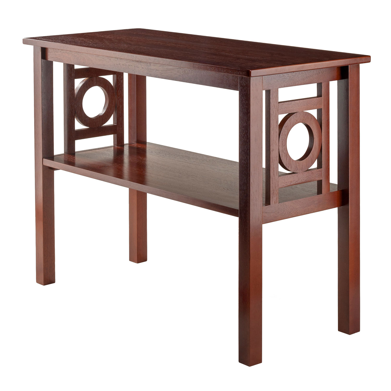 winsome wood ollie console table walnut bellacor accent hover zoom marble top coffee worlds away furniture bar height for small space nate berkus gold waterproof outdoor chair