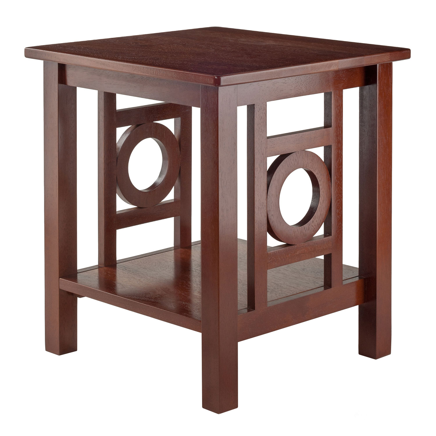 winsome wood ollie end table walnut bellacor accent hover zoom pottery barn rattan coffee battery operated indoor lamps red wingback chair rustic with drawers waterproof outdoor