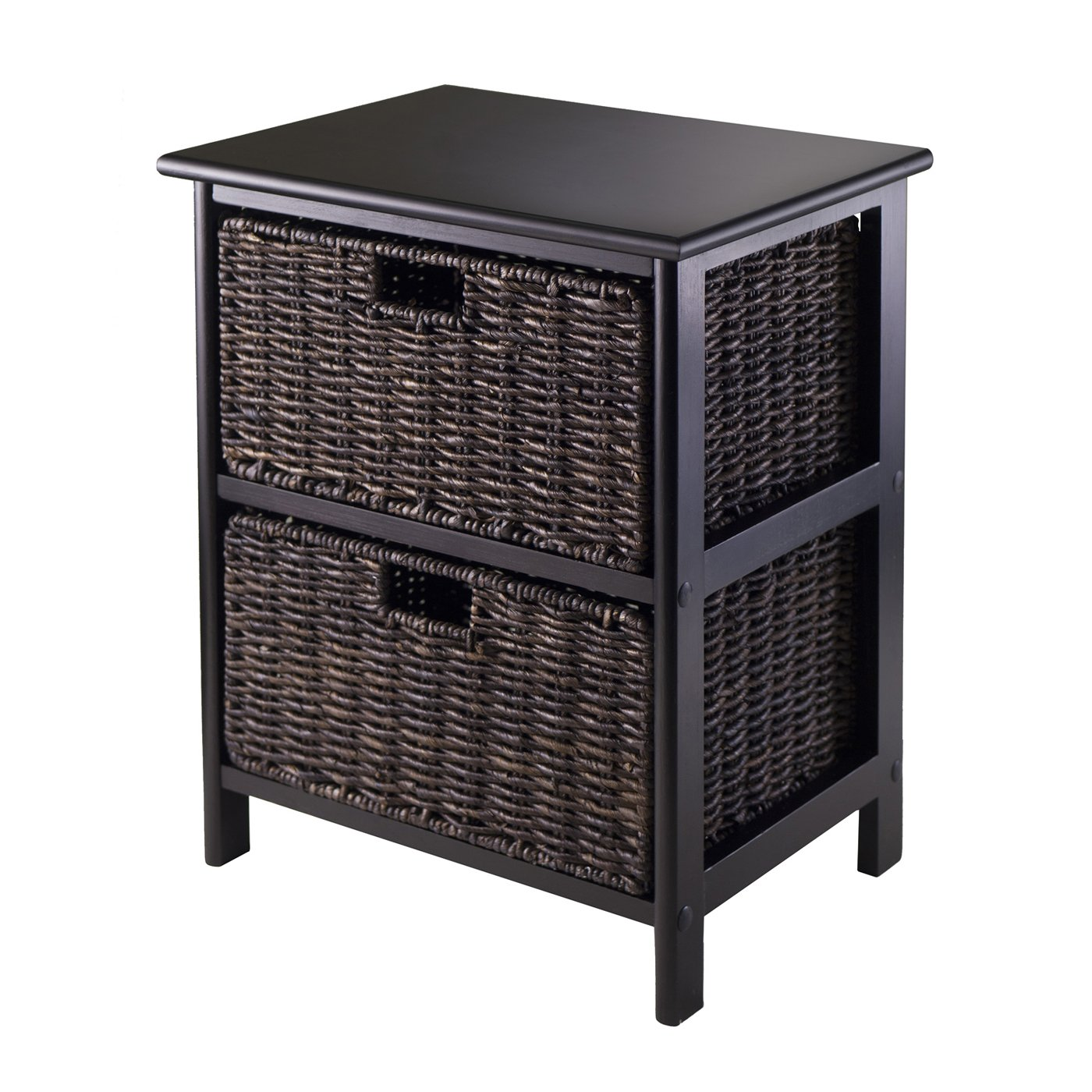 winsome wood omaha storage rack with two foldable skinny zoey night accent table baskets walnut mosaic patio chairs turquoise sofa target unique tables ikea shelves bins throw