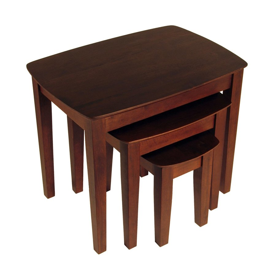 winsome wood piece antique walnut accent table set wooden dining room chairs bunnings foldable red telephone marble top coffee patio furniture and rustic with drawers basement