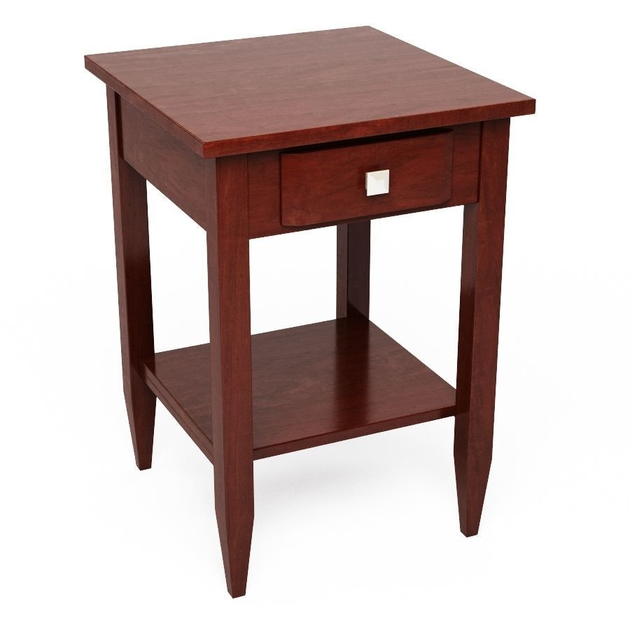 winsome wood richmond walnut end table cgtrader model max obj mtl fbx accent wooden dining room chairs worlds away furniture black and white area rugs chests cabinets floor lamp