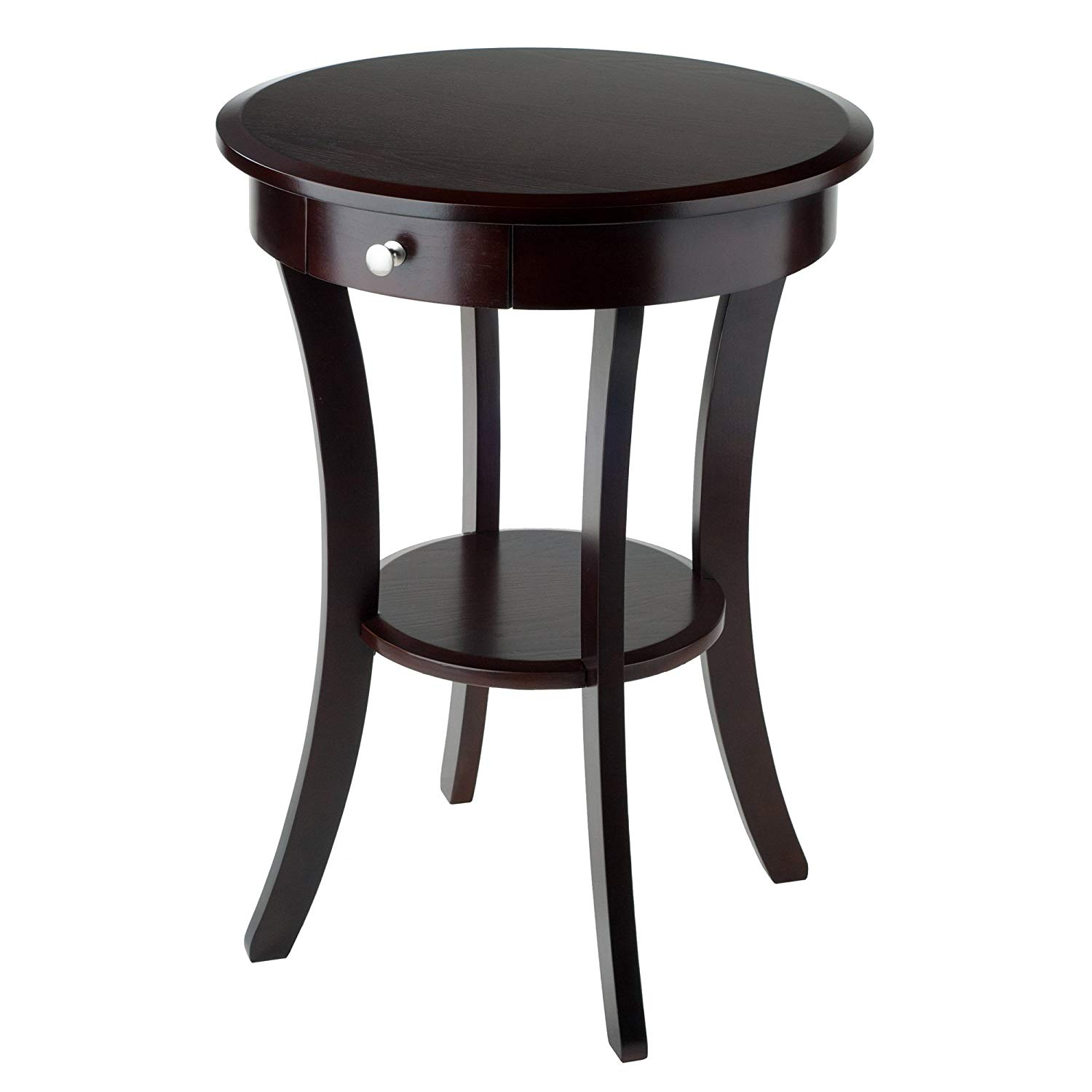 winsome wood sasha accent table cappuccino pottery barn flower kitchen dining clip desk lamp threshold and marble coffee retro furniture ikea nest tables oil rubbed bronze side