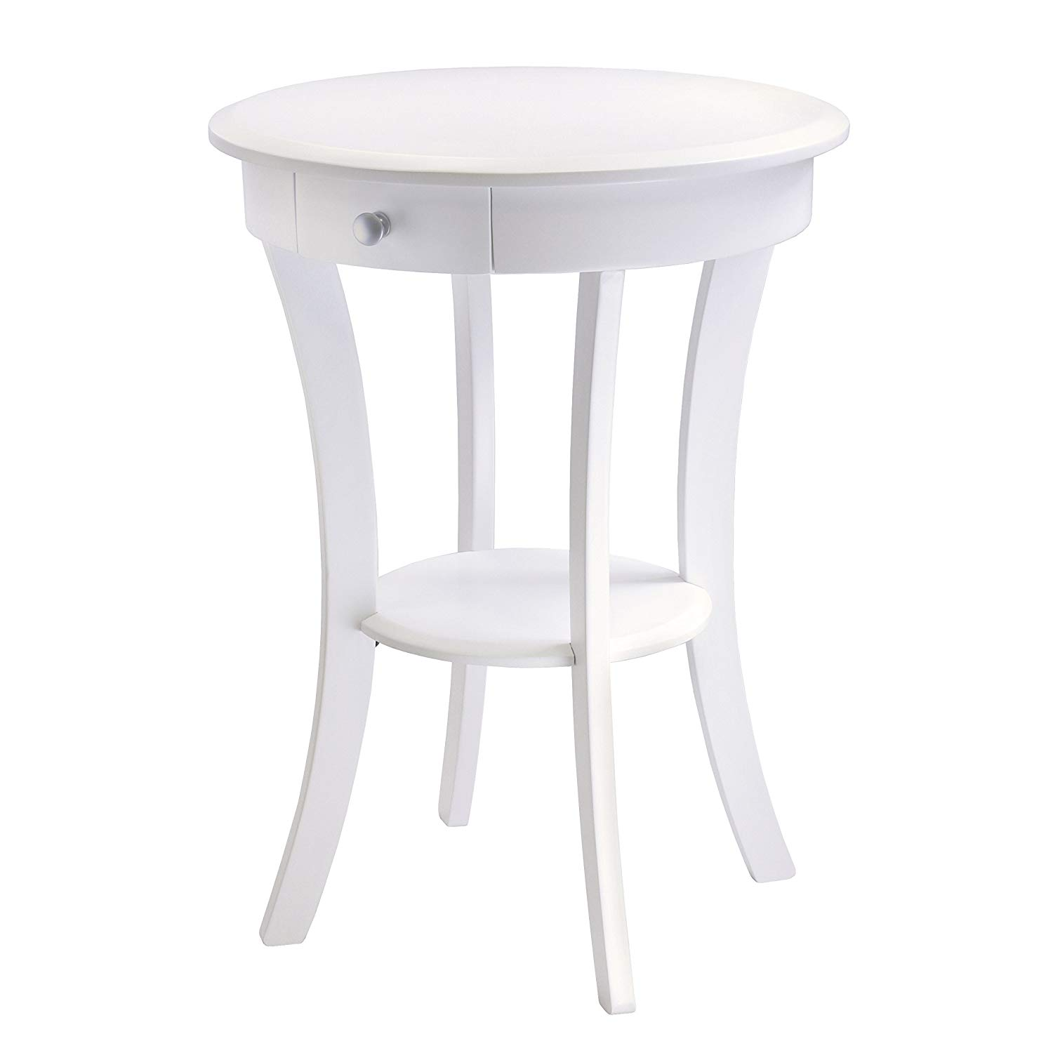 winsome wood sasha accent table with drawer curved legs end white finish kitchen dining tables small wine kirkland dog metal couch vintage lawn chairs grain kohls coupon code