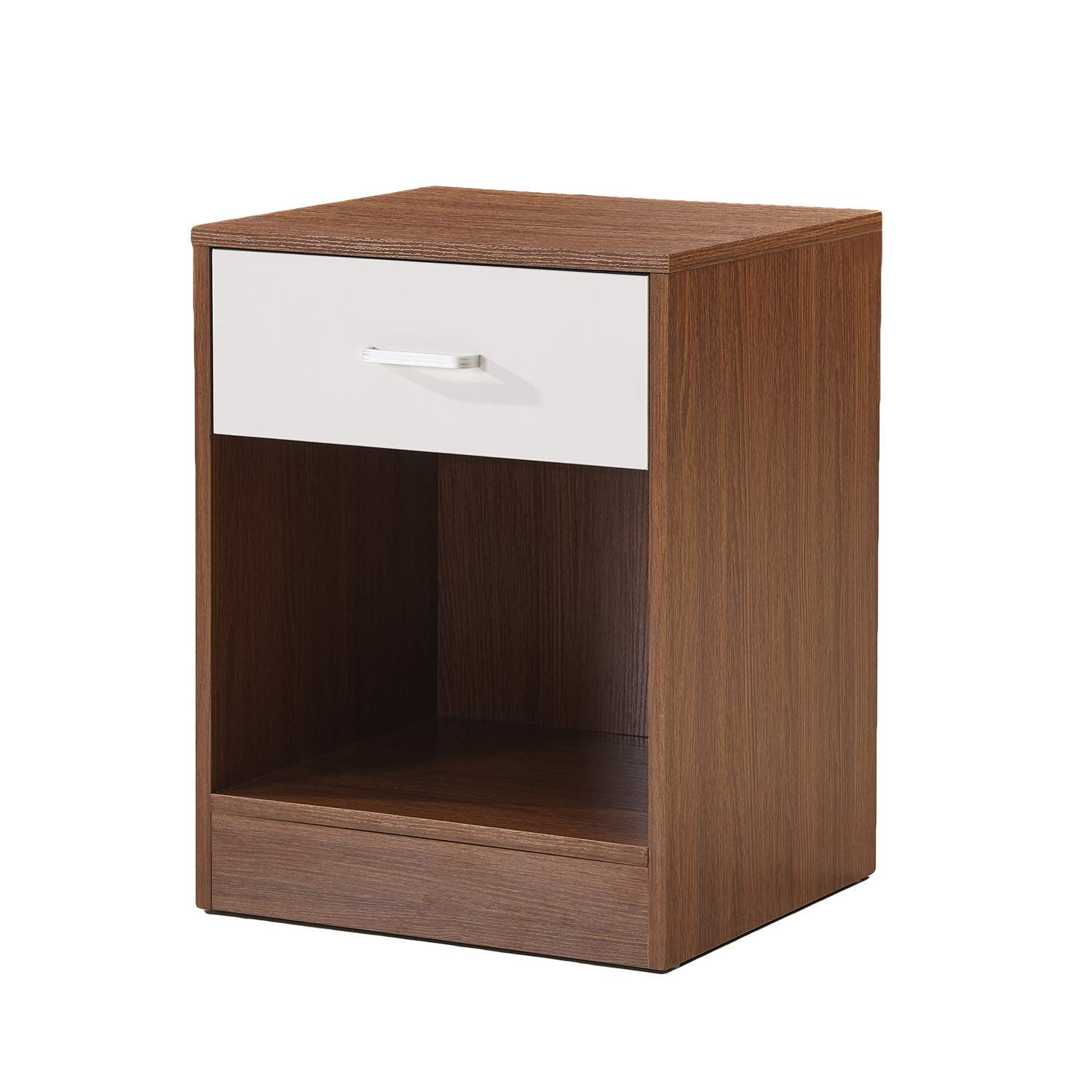 winsome wood single drawer kitchen cabinet storage cart beautiful yanni night stand accent table with and tall bedside tables drawers black white lamps wine rack butler side ott