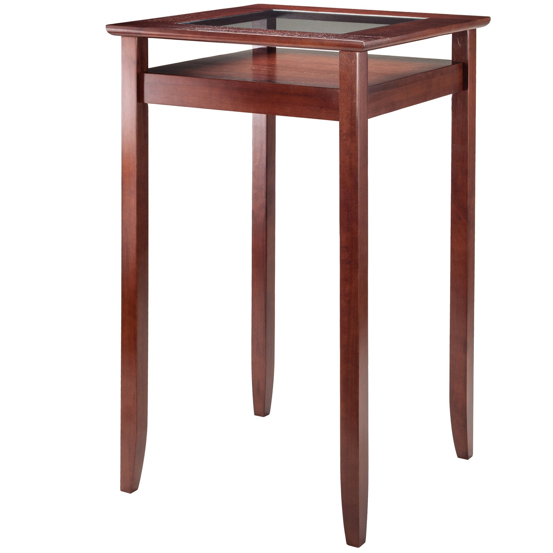 winsome wood transitional walnut solid and glass bar stool accent table marble metal coffee waterproof cover for garden chairs sheesham dining upholstered chair small contemporary