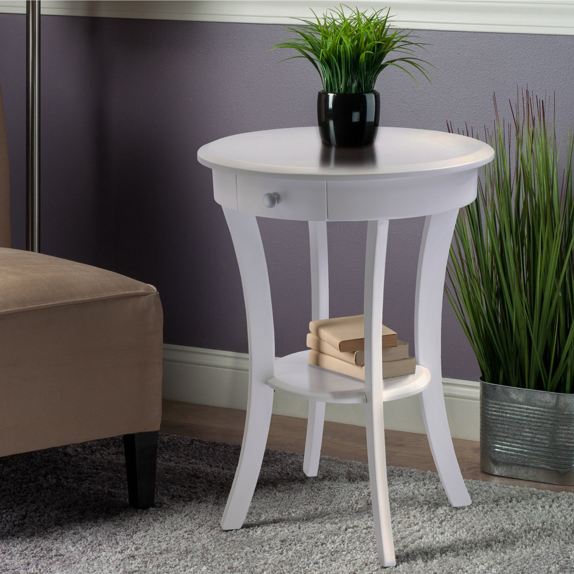 winsome wood transitional white composite accent table sasha small tiffany lamps dining set round nesting tables butler side scandinavian ott coffee black with glass brown leather