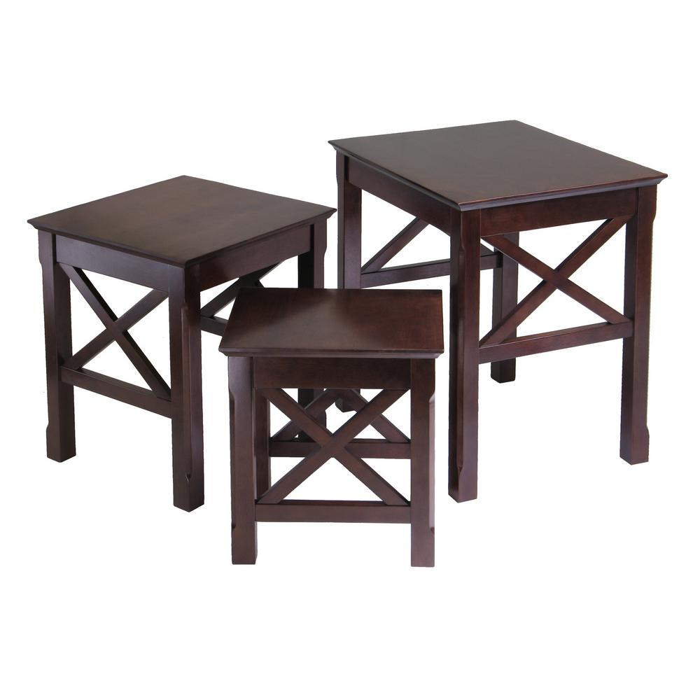winsome wood xola cappuccino coffee table the tables accent mirage mirrored college essentials pier one decor butler side tall bedside with drawers ethan allen dining oak door