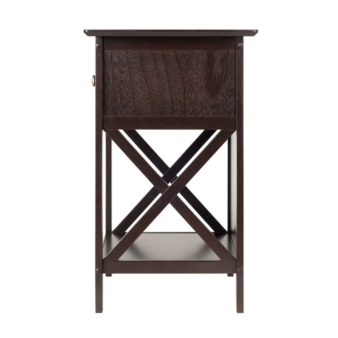 winsome xylia solid and composite wood accent table coffee finish squamish with drawer espresso free shipping today tablecloth for inch decorative utility furniture black
