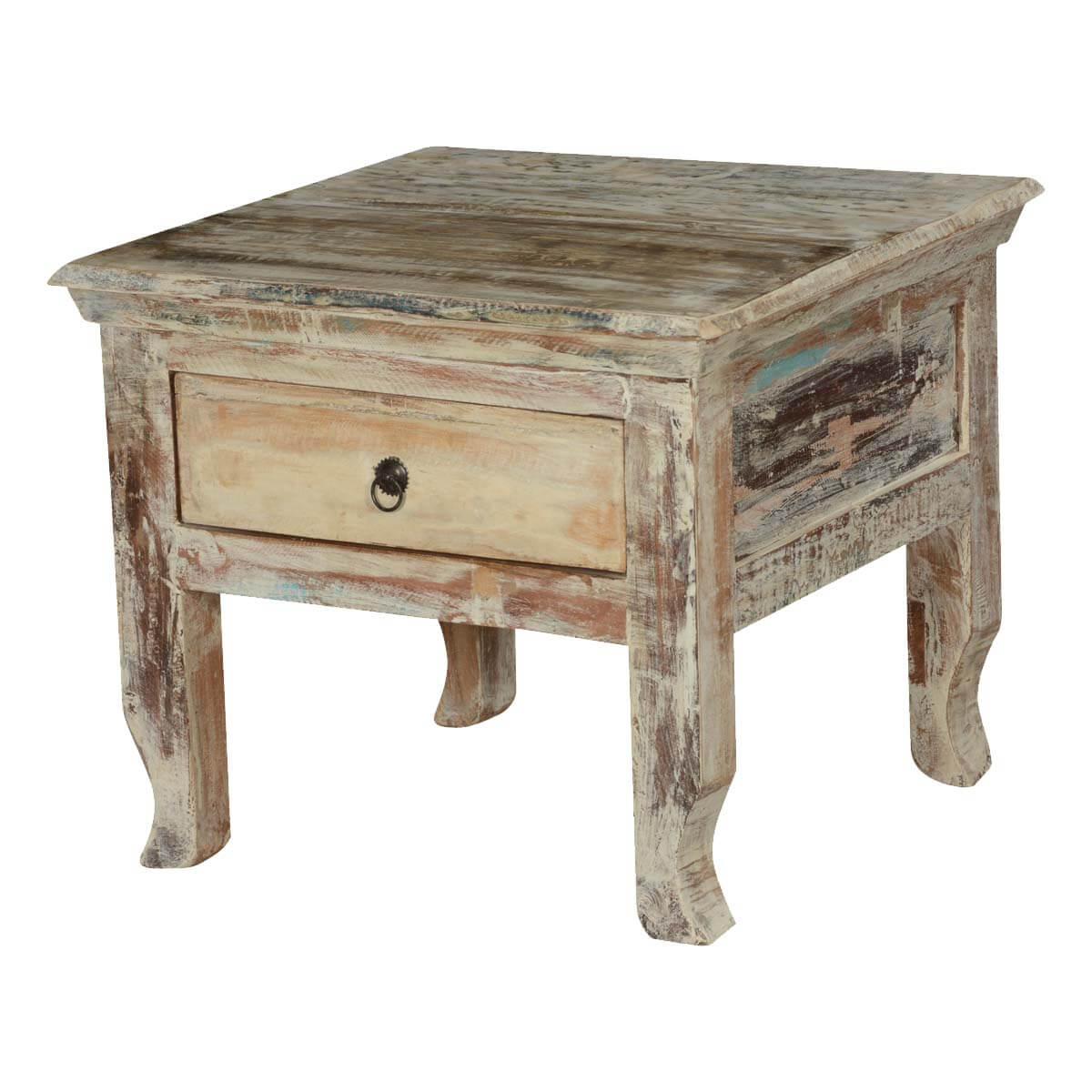 winter storm reclaimed wood accent end table drawer tables console with drawers target kids desk little white black lamp grill cart mirrored sofa homegoods bedside dresser tiffany