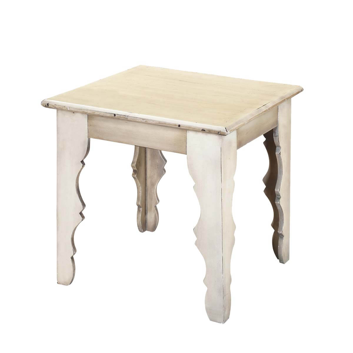 winter white rustic mango wood square accent end table antique ethan allen dining small round metal best computer desk pub style height looking tables covers for outdoor coffee