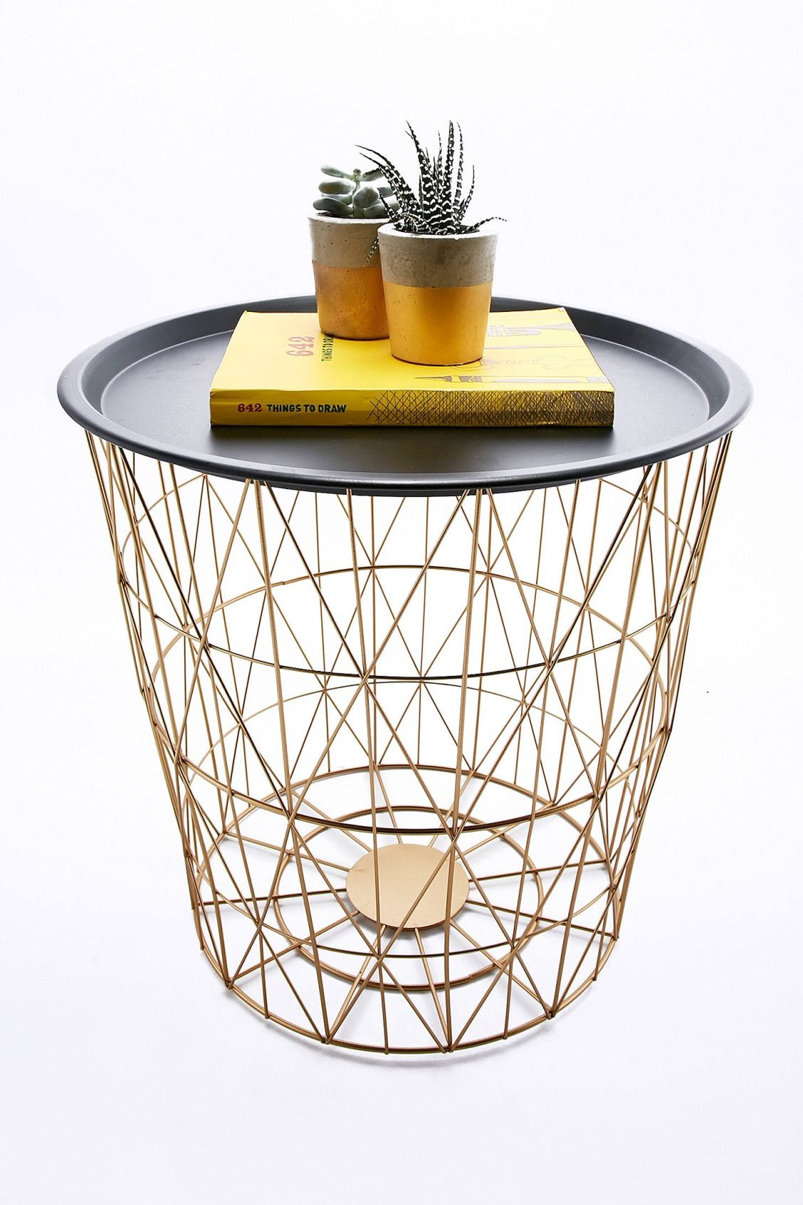 wire basket side table urban outfitters home gifts furniture accent tables uoeurope urbanoutfitterseu pottery barn armchair plastic patio high top pub and chairs metal outdoor