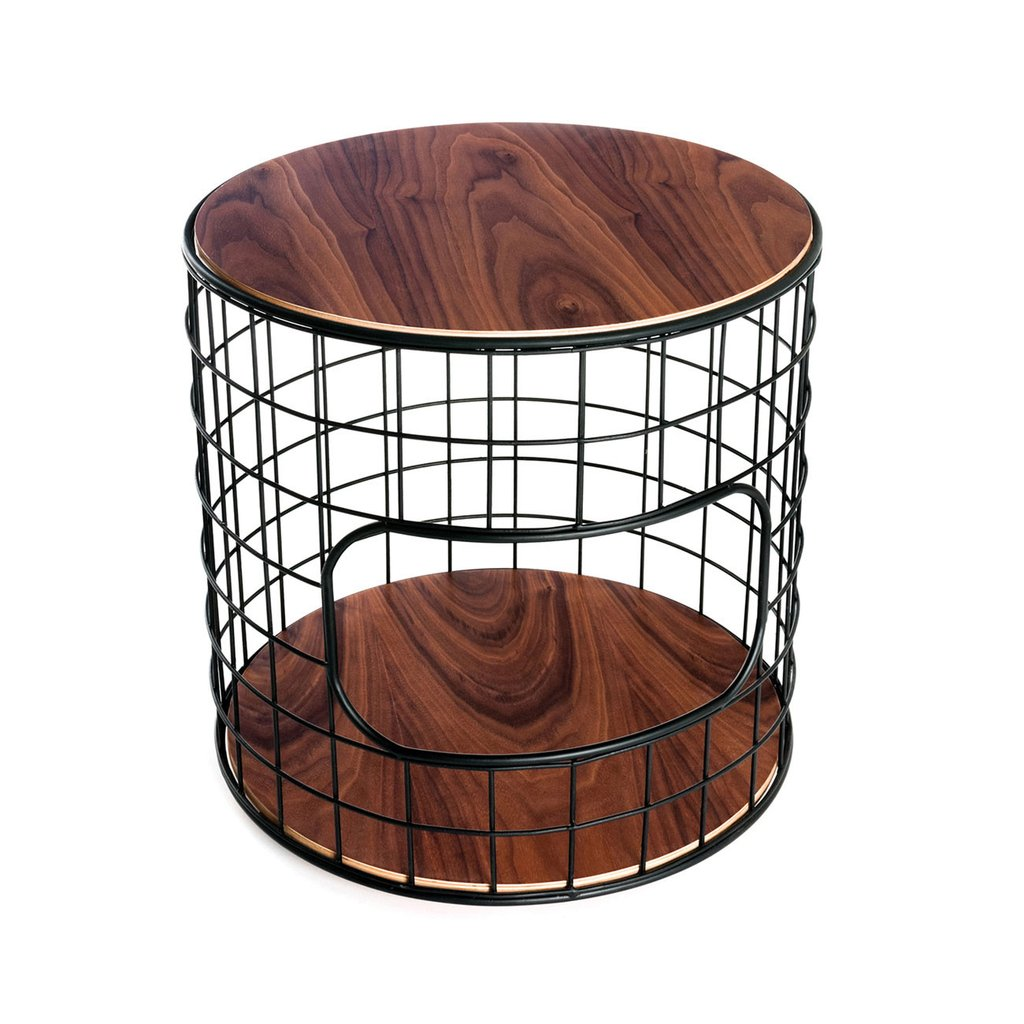 wireframe end table accent tables gus modern black with doors walnut hallway acrylic console ikea distressed round side bedroom tablecloth small lamps for living room two tone