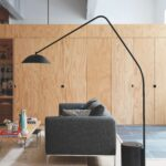 with the sten floor lamp designed norm architects accent spotlight table west elm swedish for stone which here refers marble counterweight that anchors long trestle narrow width 150x150