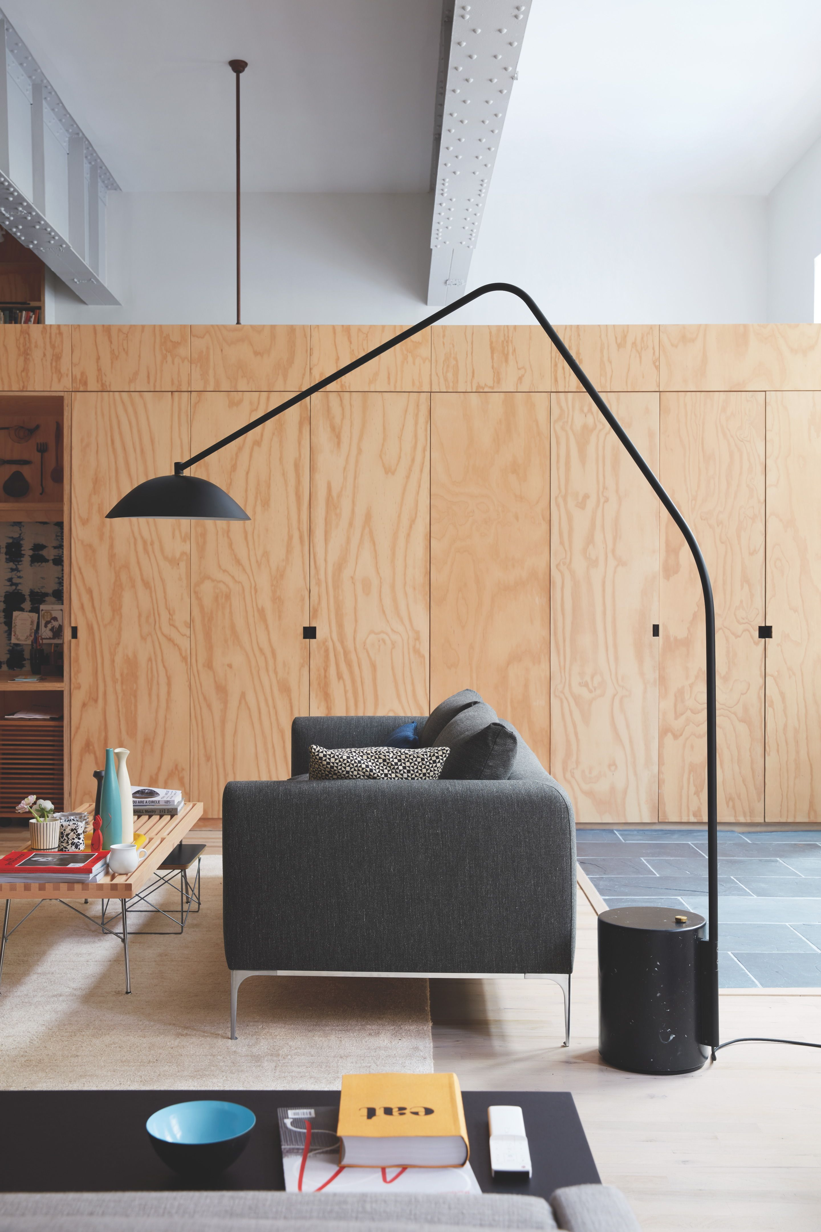 with the sten floor lamp designed norm architects accent spotlight table west elm swedish for stone which here refers marble counterweight that anchors long trestle narrow width