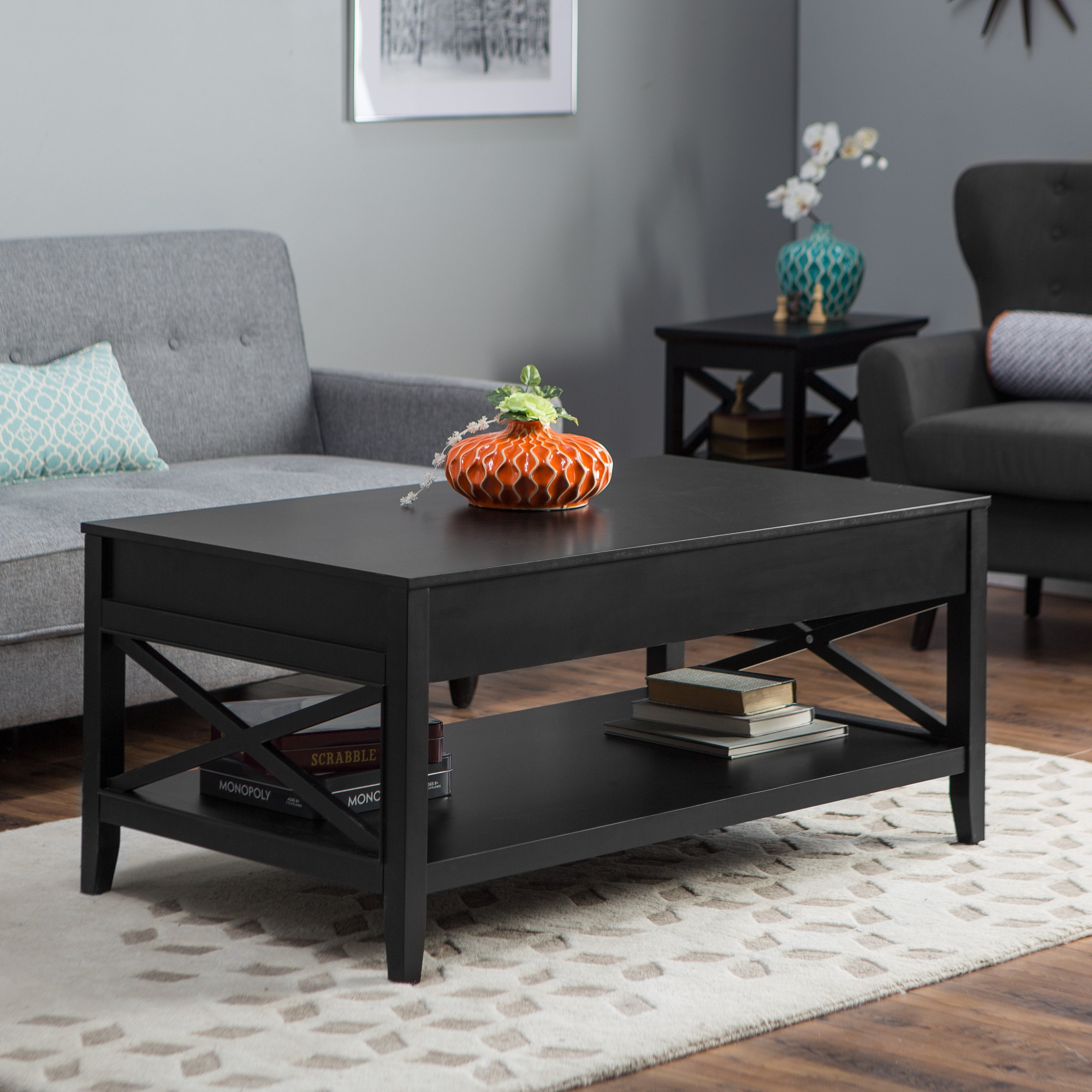 wonderful black living room table side tables small stunning set coffee sets triangle lift top modern bathroom storage brown leather end white with drawers single sofa sauder soft