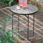wonderful metal outdoor side table for drum accent amazing wicker coffee with teak top indoor use kitchen dining sets furniture little tikes garden home decor ornaments end silver 150x150