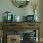 wonderful side table decor ideas for alluring small corner accent stunning entryway reveal diy plank wall tutorial upholstered chair with storage baskets pottery barn graphers 150x150