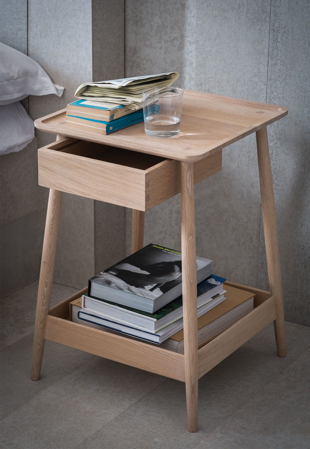 wonderful wooden bedside table designs tray high room small for white farmers industrial diy kmart space lamps decor ideas deutsch freedom sma marble mirrored narrow round