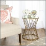 wonderfull tribal carved wood accent table world market gold modern hourglass metal mirror top furniture coffee tables stylish black legs bistro nickel lamp dining pier imports 150x150