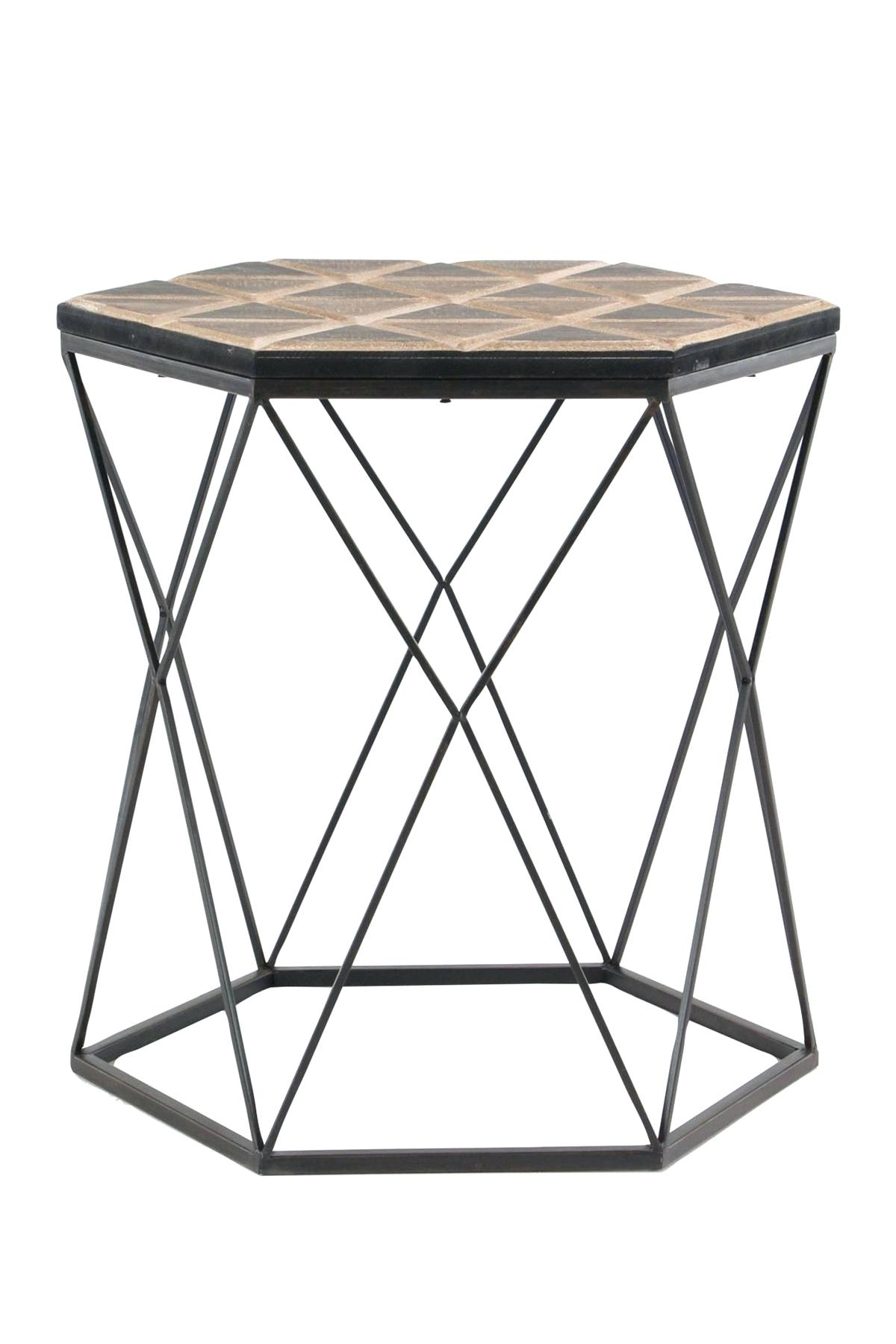 wood accent table mango round brown gray metal faux target avani drum uttermost wooden small plastic outdoor side dark coffee mission style dining with storage baskets plant
