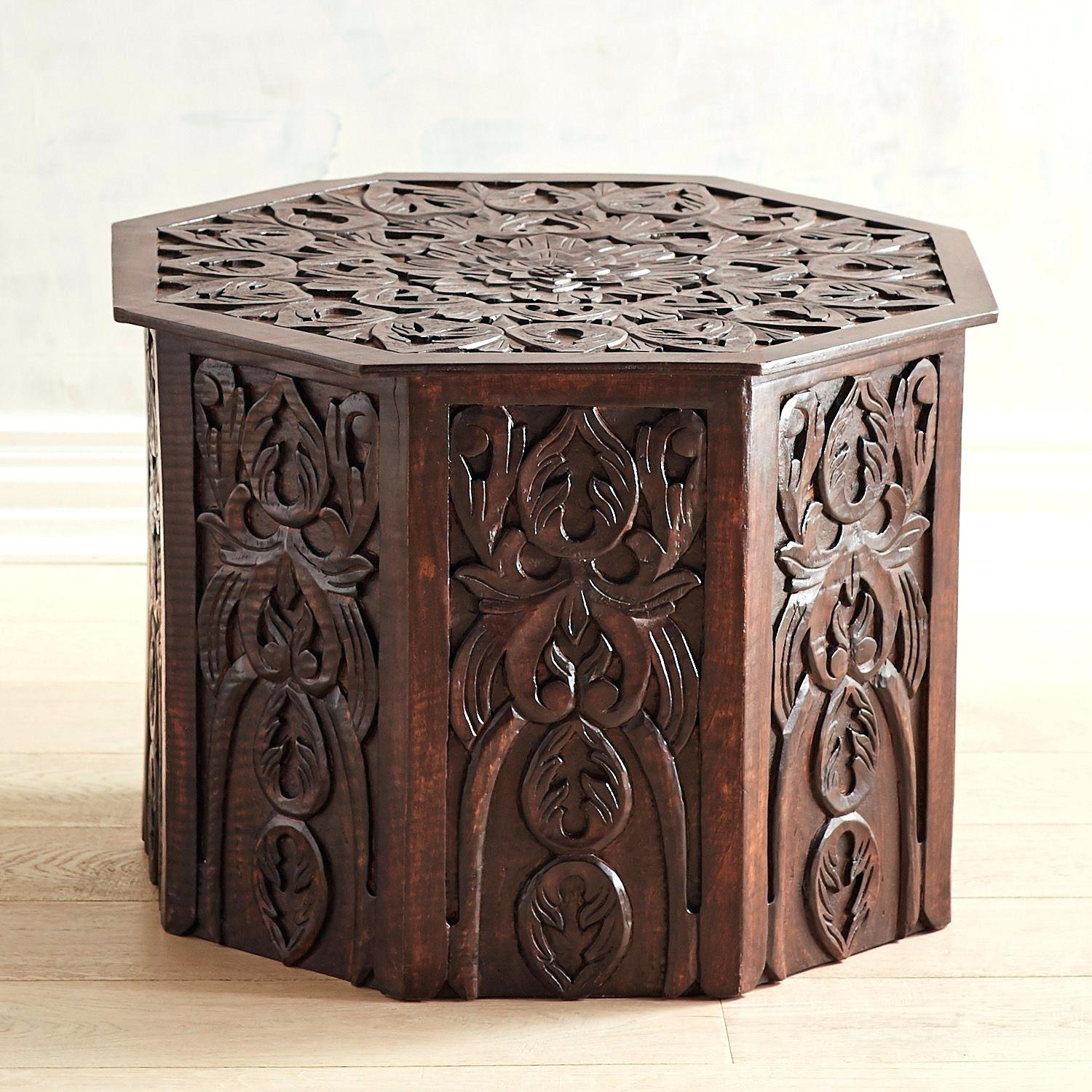 wood accent table mango round small avani drum high top bistro copper marble side plastic outdoor piece furniture white bedside living room chest umbrella wrought iron patio end