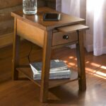 wood accent table with charging station functional furnishings extra small tables the top lifts expose usb ports and plus there pull out shelf pier one imports coupons round 150x150