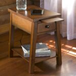 wood accent table with charging station tables outdoor storage bin pineapple lights furniture for tiny spaces round cloth black metal side modern nightstand lamps ashley chairside 150x150