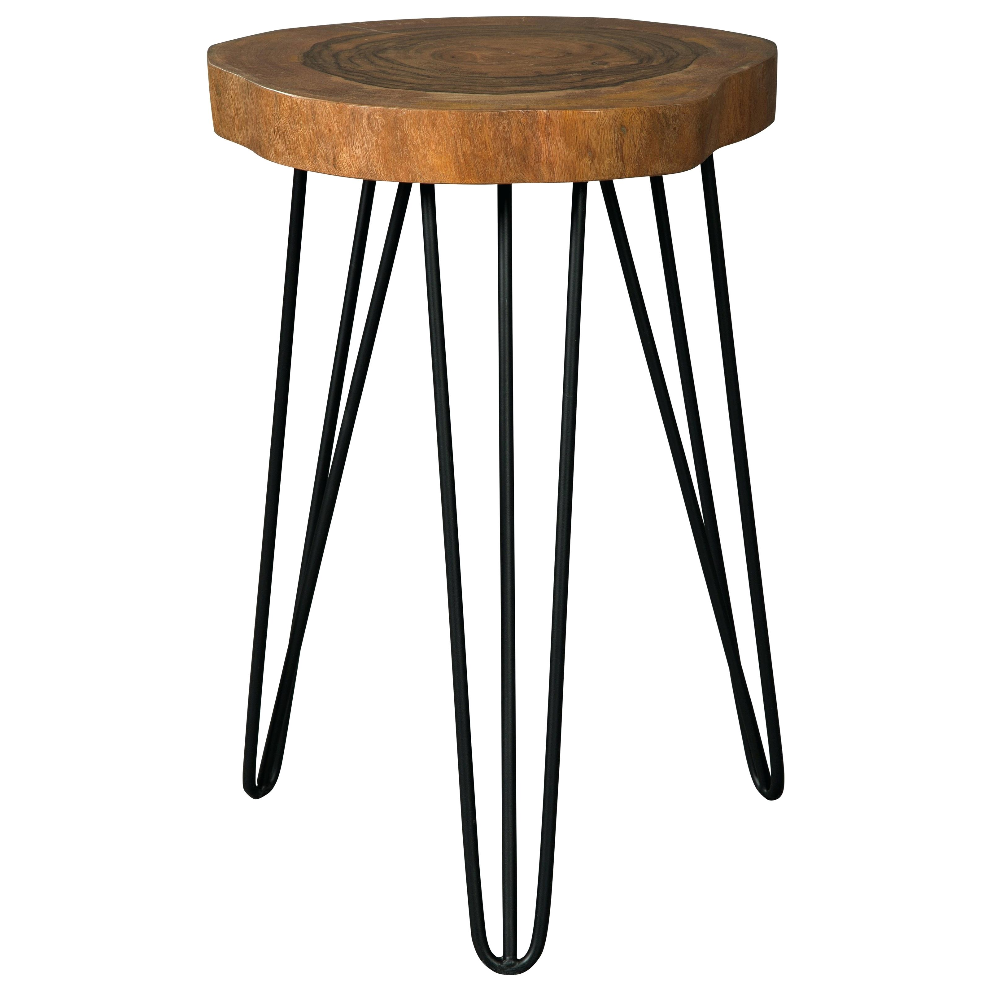 wood accent table zoom mango signature design solid with hairpin legs unfinished round modern side lamp decorative media cabinet west elm couch contemporary cocktail navy bedside