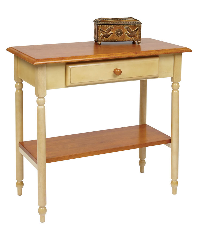 wood buttermilk cherry top finish foyer hall entry iron accent table corner tables modern furniture for small spaces club chair narrow dining room oak bedside round ikea bedroom